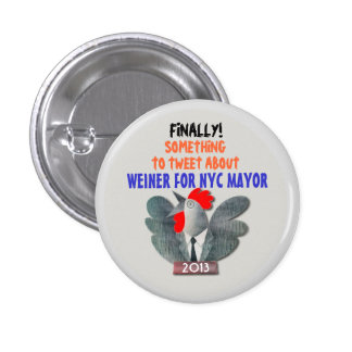 Anthony Weiner for NYC Mayor in 2013 3 Cm Round Badge