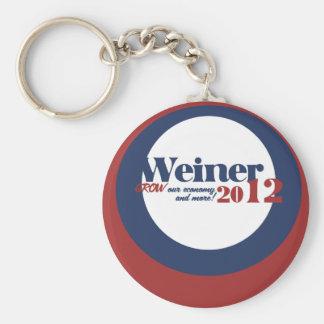 Anthony  Weiner Basic Round Button Key Ring