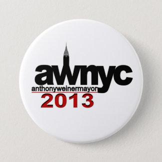 Anthony Weiner NYC Mayor 2013 7.5 Cm Round Badge