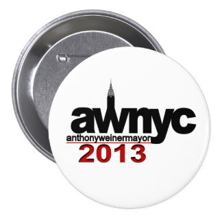 Anthony Weiner NYC Mayor 2013 7.5 Cm Round Badge