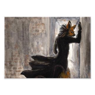 Anthro maned wolf in matrix coat photo art