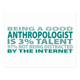 Anthropologist 3% Talent Postcard