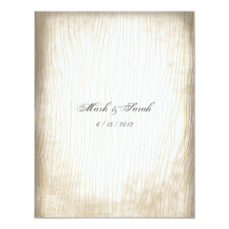 Anthropology Vintage Faded Tree Trunk Invitation