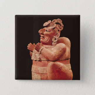 Anthropomorphic censer, from Guatemala 15 Cm Square Badge