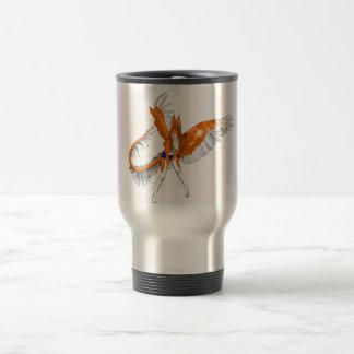 Anthropomorphic Furry Rabbit Dragon Angel 2010 Stainless Steel Travel Mug