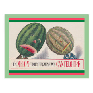 ANTHROPOMORPHIC Melons Pun POSTCARD