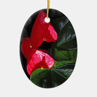 Anthuriums Christmas Ornament