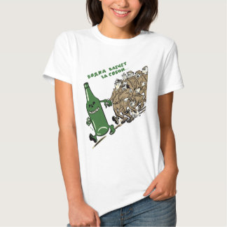 Anti-Alcohol Communist Russia poster T Shirts