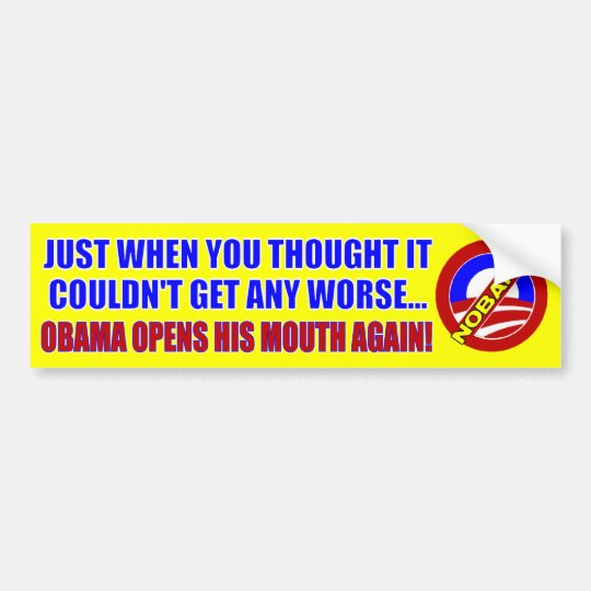 Anti Barack Obama Bumper Sticker