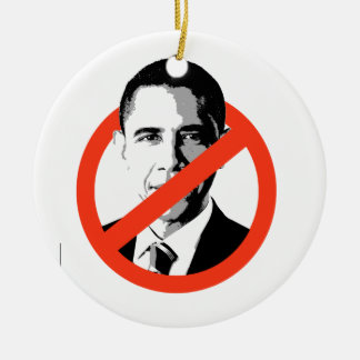 ANTI-BARACK OBAMA - CHRISTMAS ORNAMENT