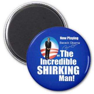 Anti Barack Obama - Shirker 6 Cm Round Magnet