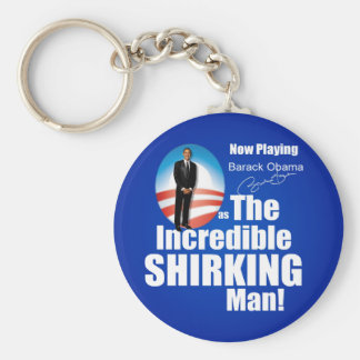 Anti Barack Obama - Shirker Basic Round Button Key Ring