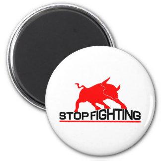 Anti Bullfighting T-Shirt 6 Cm Round Magnet