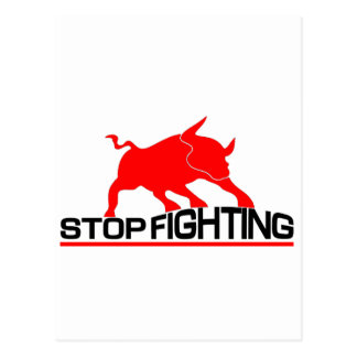 Anti Bullfighting T-Shirt Postcard