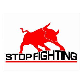Anti Bullfighting T-Shirt Postcard
