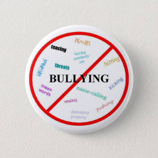 Anti bully 6 cm round badge