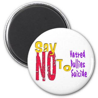 Anti-Bullying 6 Cm Round Magnet