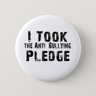 Anti Bullying Pledge 6 Cm Round Badge