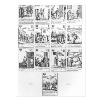 Anti-catholic playing cards commemorating postcard