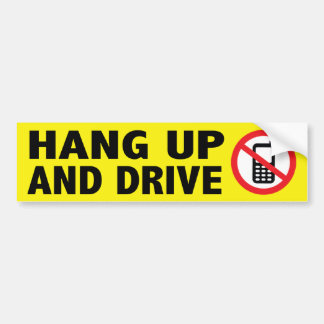 Anti-Cell Phone Bumper Sticker