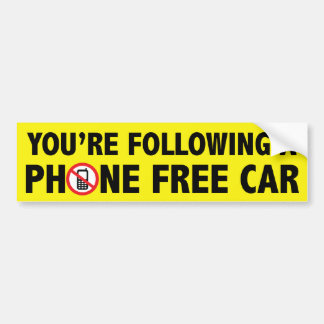 Anti Cell Phone Bumper Sticker