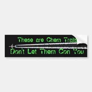 Anti Chem Trail Bumper Sticker