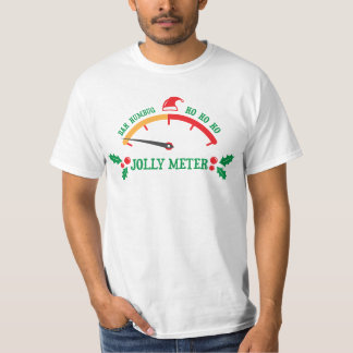 Anti christmas Bah humbug Jolly meter t-shirt