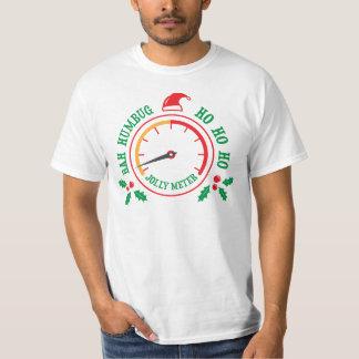 Anti Christmas Bah humbug Jolly metre t-shirt