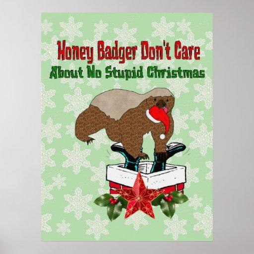 Anti-Christmas Honey Badger Print