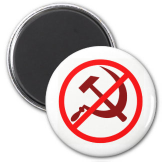 Anti-Communist 6 Cm Round Magnet