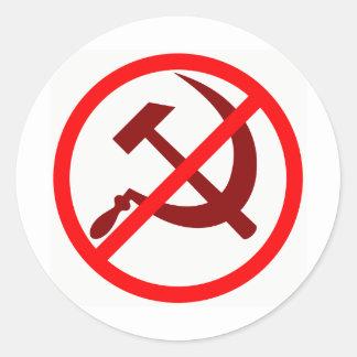 Anti-Communist Round Sticker