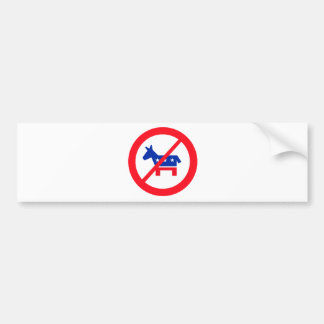 Anti-Democrat Donkey Bumper Sticker
