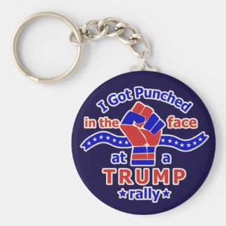 Anti Donald Trump Funny Punched in Face Basic Round Button Key Ring