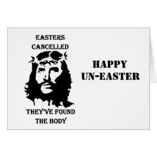 Funny religious easter gifts gift ideas zazzle uk anti easter card negle Gallery