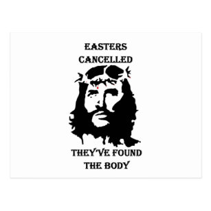 Funny religious easter gifts gift ideas zazzle uk anti easter postcard negle Images
