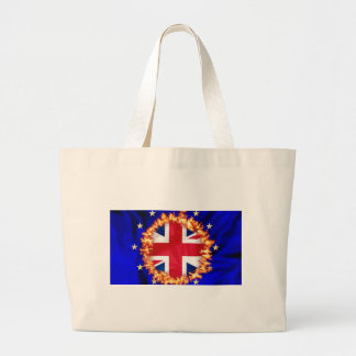 Anti-EU Brexit symbol Large Tote Bag