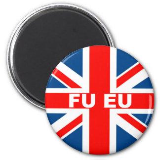 Anti EU British flag 6 Cm Round Magnet