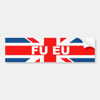 Anti EU British flag Bumper Sticker
