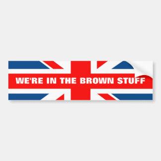Anti EU British flag Bumper Sticker