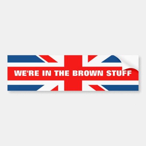 Anti EU British flag Bumper Stickers
