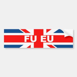Anti EU British flag Car Bumper Sticker
