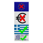 Anti EU & Euro, Pro Greece & Drachma (1) Print
