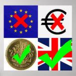 Anti EU & Euro, Pro UK & Pound Sterling (1) Poster