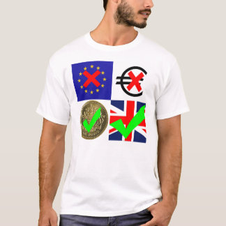 Anti EU & Euro, Pro UK & Pound Sterling (1) T-Shirt