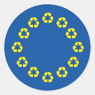 Anti EU Flag European Union Recycling Stickers