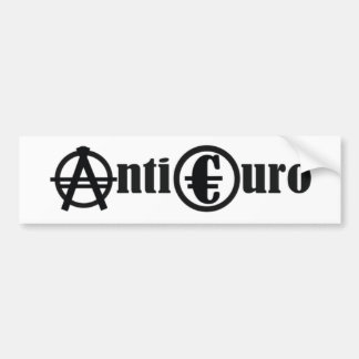 ANTI EURO BUMPER STICKER