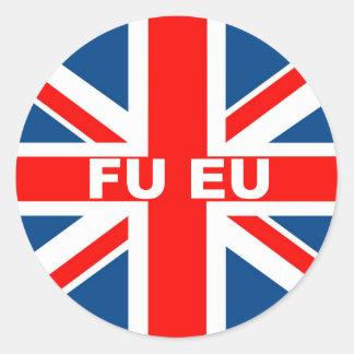 Anti Euro Round Sticker