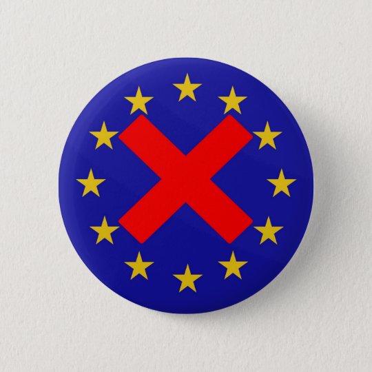 Anti European Union 6 Cm Round Badge