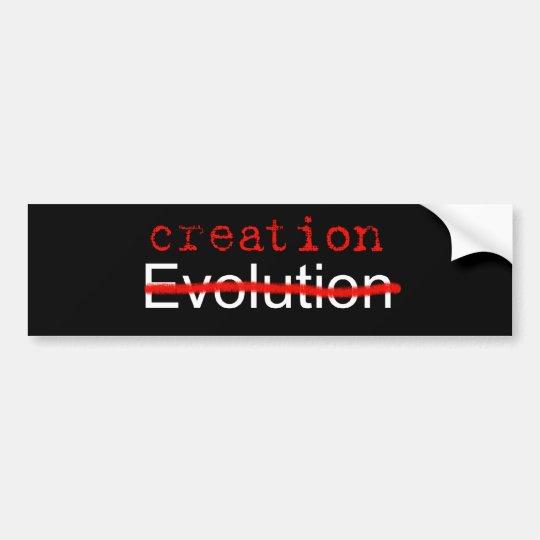 Anti Evolution Bumper Sticker