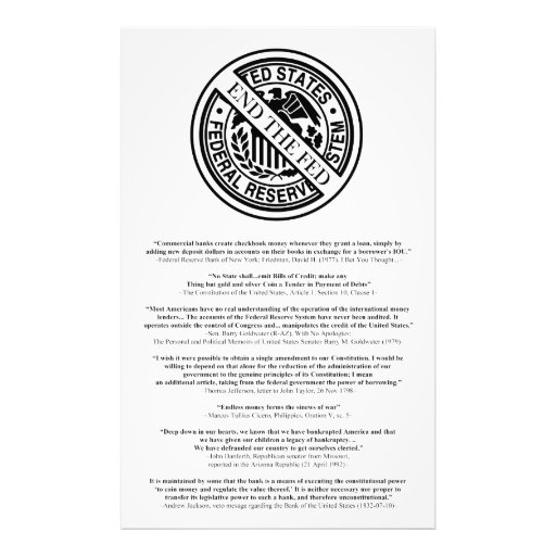 Anti Federal Reserve Logo with Famous Quotes 2 Art Photo
